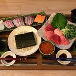 【献立・給料日】手巻き寿司+日本酒