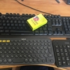 3台までPCやAndroid端末ios端末を操作できるキーボードを買ってみた!3つのボタンで切り替え簡単!