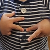 無印パジャマでボタン成功(^-^)v りーくん2歳7ヶ月
