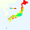 Rate of Deaths from Lung Cancer by Prefecture in Japan, 2015