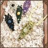 天然石のマクラメ編みペンダントトップ【菊花紋】