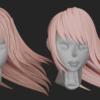 【Blender #25】白黒テクスチャとアルファ抜きを利用して髪の毛の毛束感や模様を作る