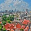 「ワット・サケット Wat Saket(黄金の丘)」~仏塔の上からバンコク市内の風景が一望出来る寺院!!