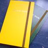 特製の「測量野帳」に「カラーゴムテープ」でささやかなカスタマイズ