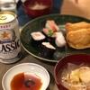 声優の寿司、豚汁