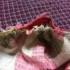 6:ピンクのお花柄★バニランワンピース作るよ♪