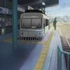 2010年5月、「けいおん!!」2期スタート記念&#4修学旅行!を巡ってみた(10)おまけ・これもヒントか?叡山線・出町柳駅ホームにて