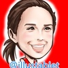 iPadで描いた アリーナ・ザギトワさんの似顔絵と似顔絵が出来上がるまで。
