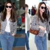 Tシャツとジーンズに仕上げた空港ファッション」目を離すことができない」