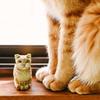 木彫りの猫始めました