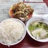 中区錦町マリンハイツの「百鶴楼」で唐揚げ定食