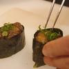 鶏肝の軍艦巻き 神戸三ノ宮の地鶏お寿司は安東
