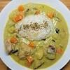 【簡単レシピ】野菜たっぷりロイタイのグリーンカレースープの作り方。