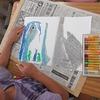 1年生:図工 やぶいた形から生まれたよ