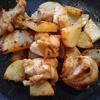 鶏もも肉と山芋のバター醤油炒め