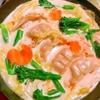 春野菜と餃子の豆乳フライパン鍋
