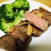 スーパーの安い肉を簡単に美味しく!牛もも肉のステーキ