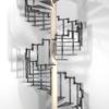 【Blender】螺旋階段を作った