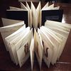 自費出版「ALPHABET PARADE」折り本・クロス装 A5判