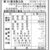 ディーゼルジャパン株式会社 第33期決算公告
