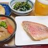 赤魚の粕漬け、もつ煮などで晩酌