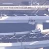 現場映像!首都高速道路の両国ジャンクションから隅田川に車が転落落下!通行止め区間