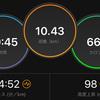 ジョギング10.43km・EペースからMペースへ