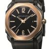 イタリアの美しさでクールな黒のトーンBvlgari Octoウルトラネロバラゴールド腕時計SKP限定版-www.buyoo1.com