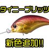 【O.S.P】スピニングタックルで使用出来るクランクベイト「タイニーブリッツMR・DR」に新色追加!