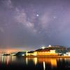 【天体撮影記 第94夜】 長崎県 平戸島の平戸城の上に浮かぶ天の川