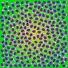 【動いて見える錯視】視線とタイムマシンの錯視イラスト