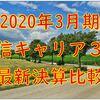 通信キャリア大手3社(KDDI、ソフトバンク、NTTドコモ)の最新決算比較と分析【2020年3月期決算情報】