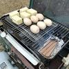 キャンプで燻製 リンゴのスモークウッドで燻製してみた