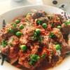 レバーと砂肝のトマト煮込み