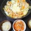 チーズタッカルビ、切り干しサラダ、味噌汁
