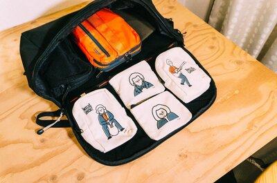 【カバン内の整理DIY】バックパック用に、マジックテープを付けた小物ポーチを作った!