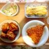 唐揚げ、アジフライ、枝豆、玉子焼き