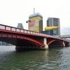 吾妻橋は赤、駒形橋は青、厩橋は緑、蔵前橋は黄、後はピンクか?
