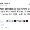 トランプ大統領、北朝鮮危機で日本などの同盟国に言及