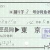 JR東海  伊豆箱根鉄道伊豆長岡駅発行 常備軟券特急券