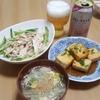 バンバンジー、豆腐の照りマヨ焼き