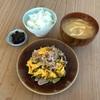 高菜、豚肉、卵の炒め物