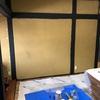 和室を洋室へ(壁の柱をペンキで塗る)