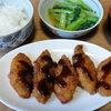 今日の食べ物 朝食に白身魚フライ