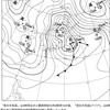 2015/03/10 今日は風が強くて雪もちらつく。縦縞で北から寒気も入り込む