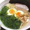 食楽なごみ家@いわき のり玉ラーメン(塩)+ミニとり唐タルタル丼