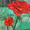 赤くて誠実なバラ