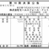 株式会社セールスフォース・ドットコム 第18期決算公告