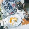 わんこと楽しむベランダカフェ
