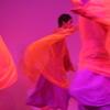 東京賢治シュタイナー学校の卒業オイリュトミー公演。「風にはためくシュライヤー」